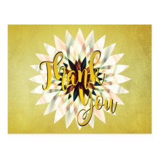 Lotus Thank You Yoga Meditation Holistic Postcard