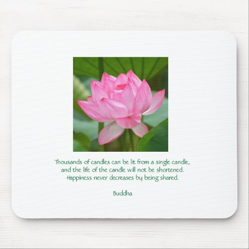 lotus, Thousands of candles can be lit from a s... Mousepads