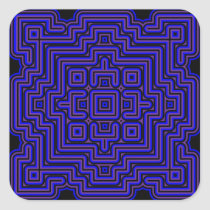Lotus Tile Square Sticker