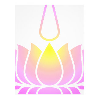Lotus ultravioleta plantillas de membrete