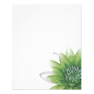 """Lotus verde folleto 4.5"""" x 5.6"""""""