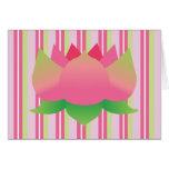 Lotus verde y rosado le agradece las tarjetas