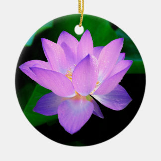lotus water romantic date bridal peace hope love Double-Sided ceramic round christmas ornament