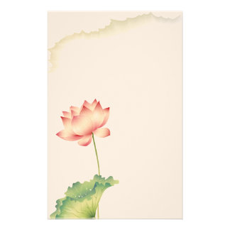 Lotus Watercolor  Stationery