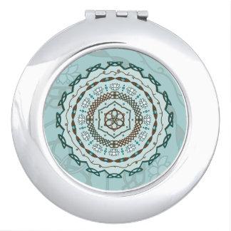 Lotus Weave Compact Mirror