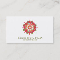 Lotus Wellness and Mental Health Healing Arts Business Card