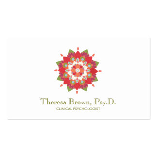 Lotus Wellness and Mental Health Healing Arts Double-Sided Standard Business Cards (Pack Of 100)