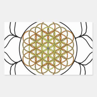 Lotus White6 Pegatina Rectangular