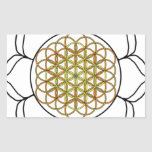 Lotus White6 Rectangular Sticker