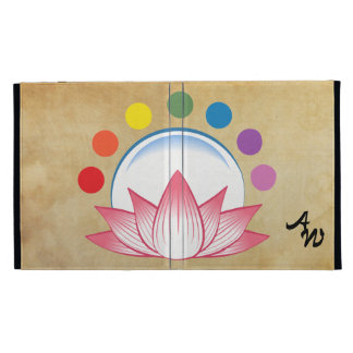Lotus with chakra iPad folio covers