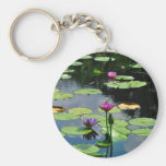 Lotus with DragonFly Key Chain