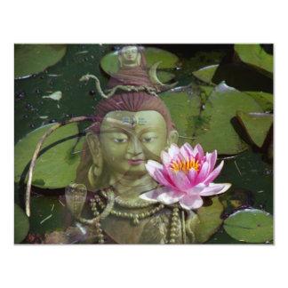 """Lotus y invitaciones de Buda Invitación 4.25"""" X 5.5"""""""