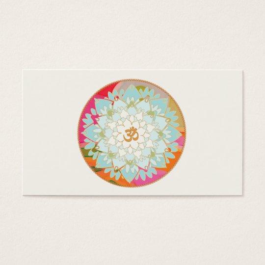 Lotus y tarjeta de visita de los artes curativos