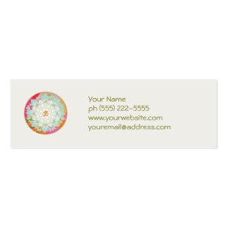 Lotus y tarjeta de visita del símbolo de OM