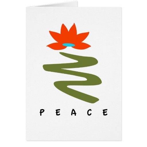 Lotus y tarjeta del día de fiesta de la PAZ del tr