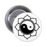 Lotus Yin Yang Button