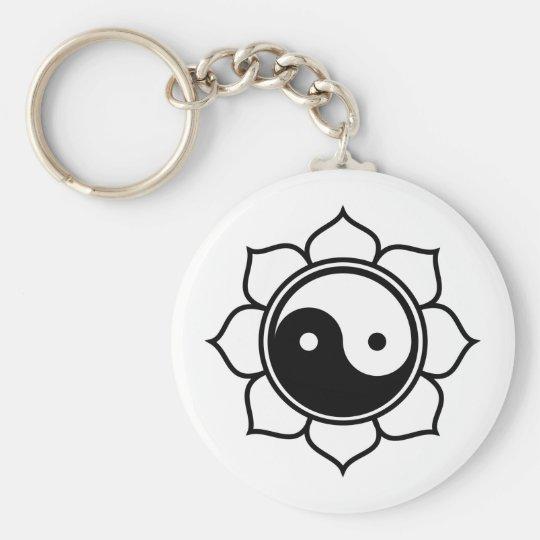 Lotus Yin Yang Keychain