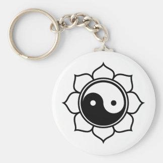 Lotus Yin Yang Llavero Redondo Tipo Pin