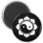 Lotus Yin Yang Magnet
