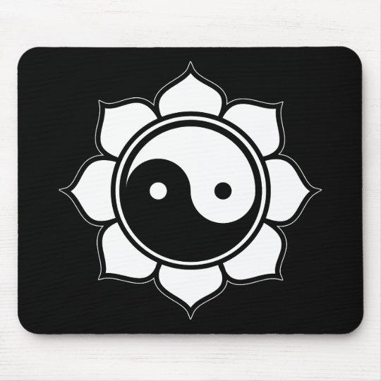 Lotus Yin Yang Mouse Pad
