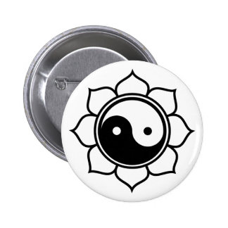 Lotus Yin Yang Pin Redondo 5 Cm