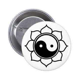 Lotus Yin Yang Pinback Button