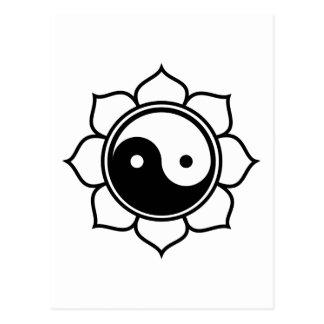 Lotus Yin Yang Postcard