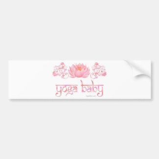Lotus yoga baby bumper sticker