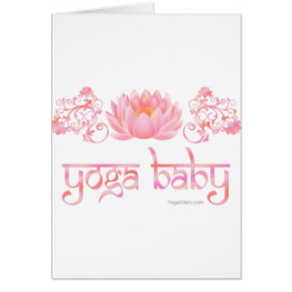 Lotus yoga baby greeting card