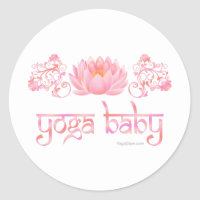 Lotus yoga baby classic round sticker
