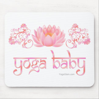 Lotus yoga baby mousepads