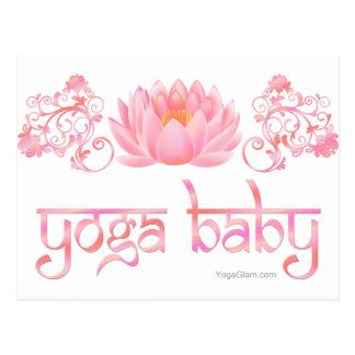 Lotus yoga baby postcard