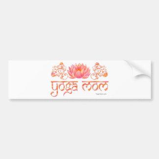 Lotus yoga mom bumper stickers