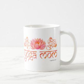 Lotus yoga mom coffee mug