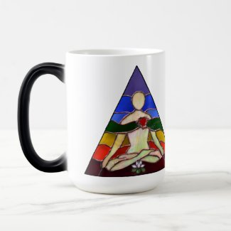 Lotus Yoga Pose 15 oz Magic Mug