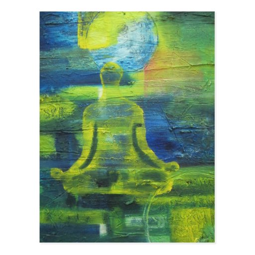 Lotus Yoga Pose Original Health Exercise Modern Postcard