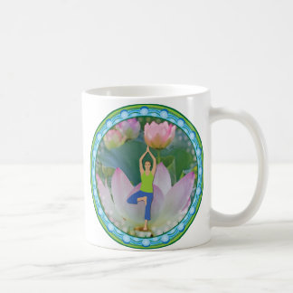 Lotus Yoga Tree Pose Mug
