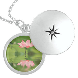 Lotus Zen Round Locket Necklace