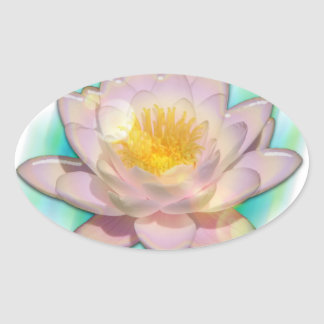 Lotusbloom Oval Sticker