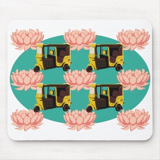 Lotuses and Rickshaws Mouse Pad