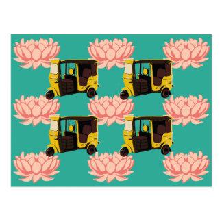 Lotuses and Rickshaws Postcard