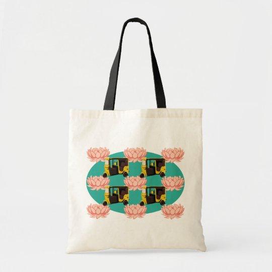 Lotuses and Rickshaws Tote Bag