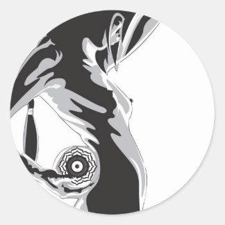 lotussticker classic round sticker