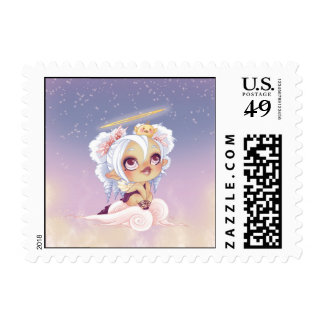 Lou Angel and Piou Postage Stamp