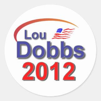 Lou Dobbs 2012 Classic Round Sticker