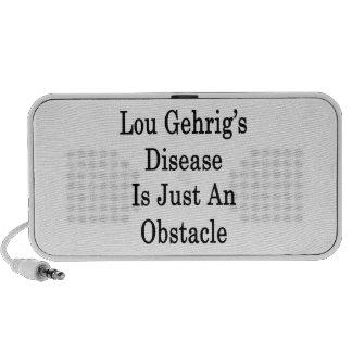 Lou Gehrig's Disease es apenas un obstáculo iPod Altavoces