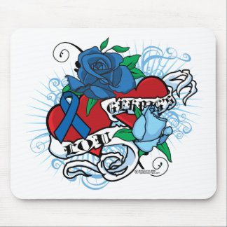 Lou Gehrigs Twin Hearts Tattoo Mouse Pad