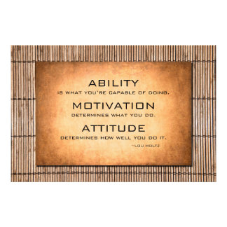 Lou Holtz motivational quote and bamboo background Photo Print