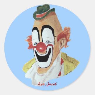 Lou Jacob Clown Sticker
