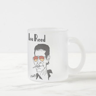 Lou Reed caricature Frosted Glass Coffee Mug